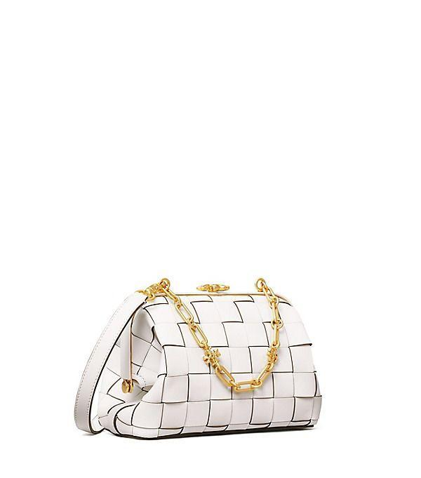 "<p><strong>Tory Burch</strong></p><p>toryburch.com</p><p><a href=""https://go.redirectingat.com?id=74968X1596630&url=https%3A%2F%2Fwww.toryburch.com%2Fcleo-woven-small-bag%2F82261.html&sref=https%3A%2F%2Fwww.townandcountrymag.com%2Fstyle%2Ffashion-trends%2Fg35902193%2Ftory-burch-sale-spring-event-2021%2F"" rel=""nofollow noopener"" target=""_blank"" data-ylk=""slk:Shop Now"" class=""link rapid-noclick-resp"">Shop Now</a></p><p>$555.02</p><p><em>Original Price: $748</em></p>"