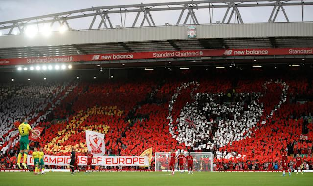 Liverpool fans at Anfield (Photo by Action Images via Reuters/Carl Recine)