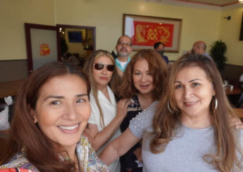 The actress also met up with family members living in the US while she was there