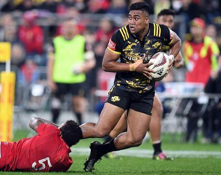 Rugby Union - British and Irish Lions v Wellington Hurricanes - Wellington, New Zealand - June 27, 2017 - Julian Savea of the Wellington Hurricanes in action. REUTERS/Stringer