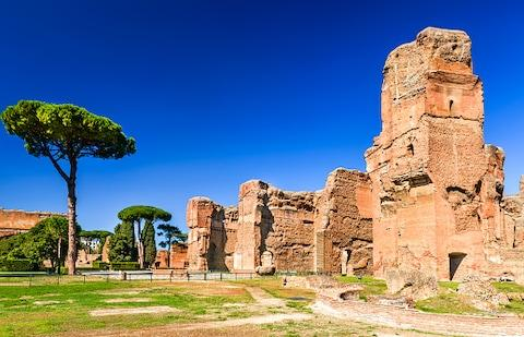The Baths of Caracalla - Credit: getty