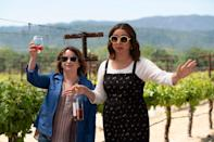 """<p>Who wouldn't want to go to Napa Valley for a weekend of wine and laughs with Amy Poehler, Maya Rudolph, and Rachel Dratch? <em>Wine Country</em> follows a group of friends who travel to the gorgeous California destination for a 50th birthday getaway. As they reminisce over large glasses of Pinot Noir, you'll feel every bit a part of the fun. </p> <p><a href=""""https://cna.st/affiliate-link/2Z6F81fjBAMUbaw55t2E8q41eU5eDQYHEH5vMP7s8X5gXGxyxd3zMWPNSLVfSbD6S5rxYoM8tGAYsiVuAMA3TCb1Sz6b?cid=5ce7dad8b6c0c588dca15404"""" rel=""""nofollow noopener"""" target=""""_blank"""" data-ylk=""""slk:Available to stream on Netflix"""" class=""""link rapid-noclick-resp""""><em>Available to stream on Netflix</em></a></p>"""