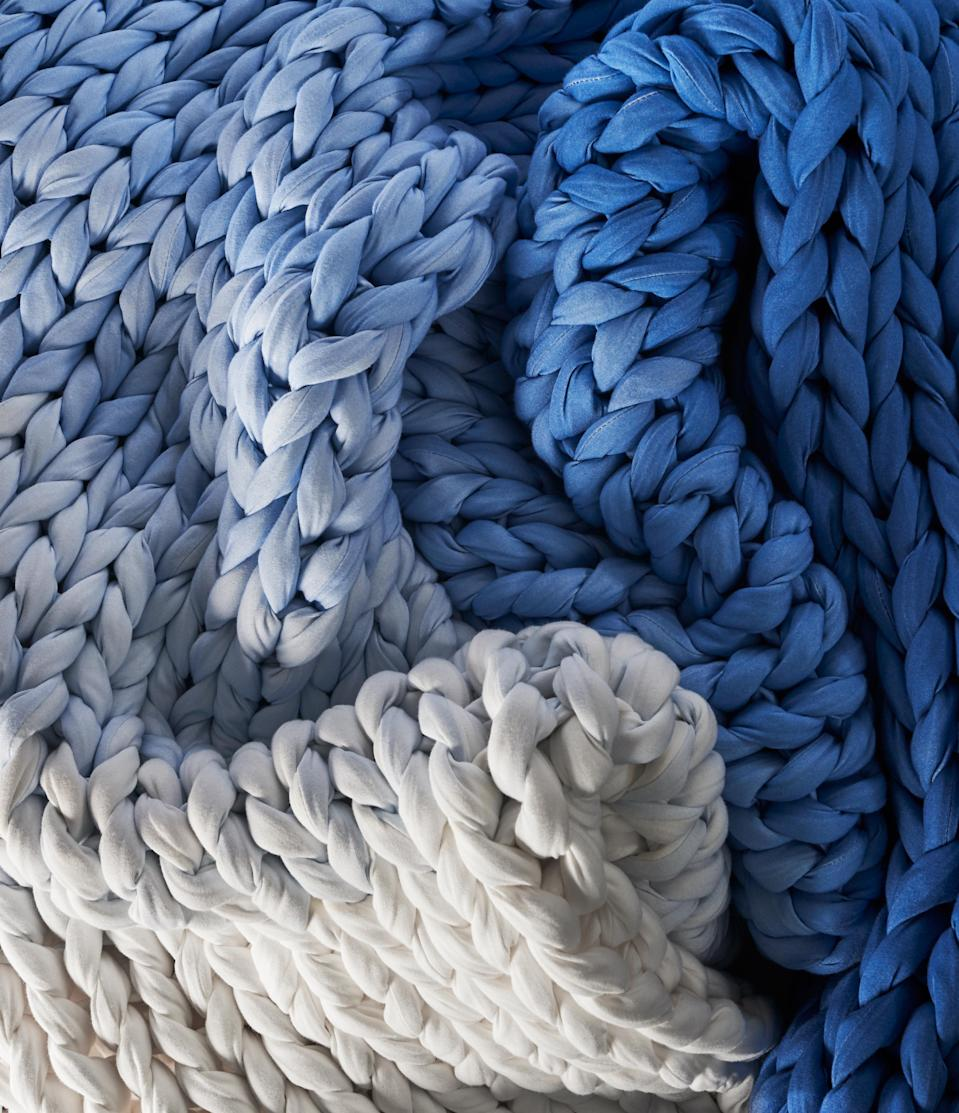 """<h3>Bearaby</h3> <br>The stylish and sustainable brand behind those chunky-knit weighted blankets you've probably been spotting, well, everywhere. Bearaby prides itself on producing an ocean-friendly, plastic-free alternative to many of the other weighted blankets on the market that use pollutive fillers in their products. Each of Bearby's """"Nappers"""" is crafted from layers of organic cotton and Tencel that are woven together to achieve a natural-weighted finish that is both hypoallergenic and machine washable.<br><br><em>Shop <strong><a href=""""https://bearaby.com/"""" rel=""""nofollow noopener"""" target=""""_blank"""" data-ylk=""""slk:Bearaby"""" class=""""link rapid-noclick-resp"""">Bearaby</a></strong></em><br><br><strong>Bearaby</strong> Ocean Napper, $, available at <a href=""""https://go.skimresources.com/?id=30283X879131&url=https%3A%2F%2Fbearaby.com%2Fproducts%2Ftree-napper"""" rel=""""nofollow noopener"""" target=""""_blank"""" data-ylk=""""slk:Bearaby"""" class=""""link rapid-noclick-resp"""">Bearaby</a><br><br><br>"""