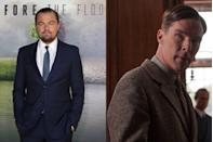 """<p><a href=""""http://deadline.com/2011/10/warner-bros-buys-spec-script-about-math-genius-biopic-because-leonardo-di-caprio-chasing-lead-role-181822/"""" rel=""""nofollow noopener"""" target=""""_blank"""" data-ylk=""""slk:Deadline reported"""" class=""""link rapid-noclick-resp""""><em>Deadline </em>reported</a> in 2011 that Leonardo DiCaprio had """"the inside track"""" to play Alan Turing in what would become <em>The Imitation Game</em>, but a year later <a href=""""https://www.hollywoodreporter.com/news/warner-bros-is-letting-go-imitation-game-363756"""" rel=""""nofollow noopener"""" target=""""_blank"""" data-ylk=""""slk:Variety said"""" class=""""link rapid-noclick-resp""""><em>Variety </em>said</a> he was """"no longer… eyeing the lead."""" Benedict Cumberbatch eventually filled the mathematician's shoes and garnered an Oscar nod for his work. An in-demand leading man, DiCaprio has also turned down roles in <em><a href=""""https://www.maxim.com/entertainment/boogie-nights-20th-anniversary-2017-10"""" rel=""""nofollow noopener"""" target=""""_blank"""" data-ylk=""""slk:Boogie Nights"""" class=""""link rapid-noclick-resp"""">Boogie Nights</a> </em>and <a href=""""https://www.hollywoodreporter.com/news/leonardo-dicaprio-exits-steve-jobs-737570"""" rel=""""nofollow noopener"""" target=""""_blank"""" data-ylk=""""slk:Steve Jobs"""" class=""""link rapid-noclick-resp""""><em>Steve Jobs</em></a>.</p>"""