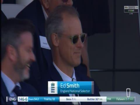 Ed Smith watches on - Credit: SKY SPORTS