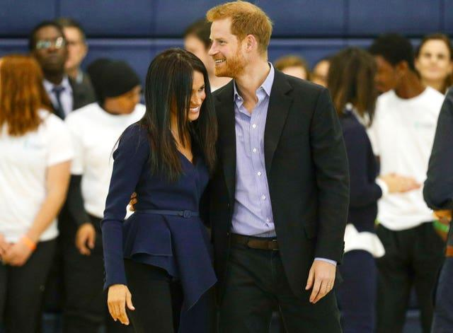 Harry and Meghan attending the Coach Core Awards