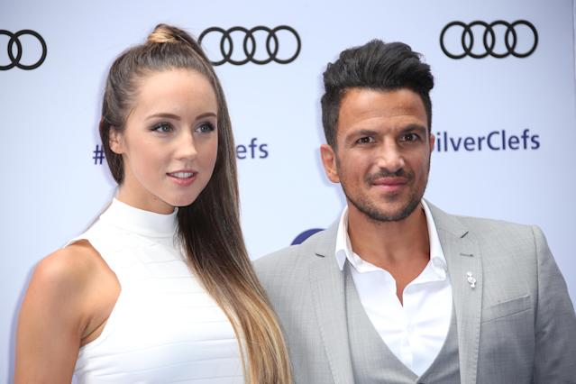 Peter Andre and wife Emily MacDonagh have to stay in separate rooms as she is a doctor. (AP)