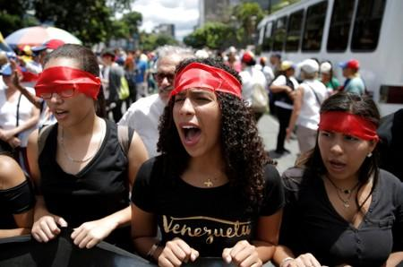 Rally against Maduro's government, in Caracas