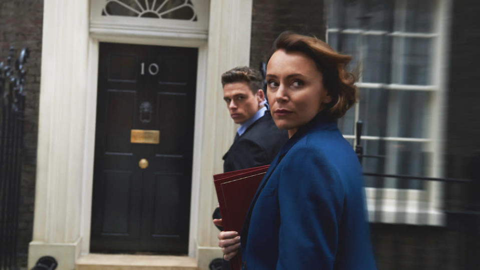 Richard Madden and Keeley Hawes star in Bodyguard (Picture: BBC)