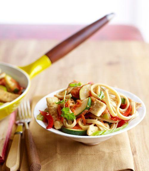 """<p>With 20 grams of protein, who can resist lo mein packed with veggies and tons of Asian flavors?</p><p><a href=""""https://www.goodhousekeeping.com/food-recipes/a10298/lo-mein-primavera-recipe-ghk0910/"""" rel=""""nofollow noopener"""" target=""""_blank"""" data-ylk=""""slk:Get the recipe for Lo Mein Primavera »"""" class=""""link rapid-noclick-resp""""><em>Get the recipe for Lo Mein Primavera »</em></a></p>"""
