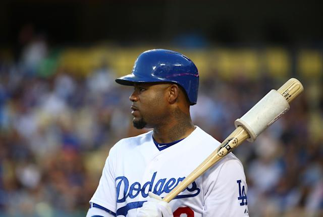 Carl Crawford addressed the drownings that occurred at his home. (Photo by Victor Decolongon/Getty Images)