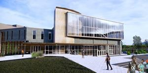Proposed Rendering of the Science Center Renovation, Expansion Project