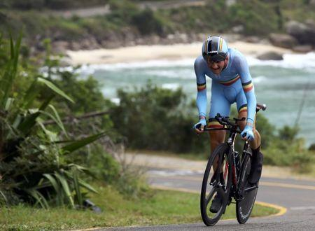 FILE PHOTO: 2016 Rio Olympics - Cycling Road - Final - Men's Individual Time Trial - Pontal - Rio de Janeiro, Brazil - 10/08/2016. Tim Wellens (BEL) of Belgium competes. REUTERS/Paul Hanna