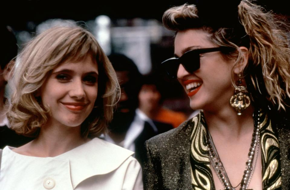 """<p><em>Desperately Seeking Susan</em> was filmed as Madonna rose in popularity, and you can practically see her star power grow onscreen before your eyes. Oh, and the fashion? A must-watch for any fan of the pop-music icon.</p> <p><em>Available to rent on</em> <a href=""""https://www.amazon.com/Desperately-Seeking-Susan-Seidelman/dp/B00INMHJGU"""" rel=""""nofollow noopener"""" target=""""_blank"""" data-ylk=""""slk:Amazon Prime Video"""" class=""""link rapid-noclick-resp""""><em>Amazon Prime Video</em></a>.</p>"""