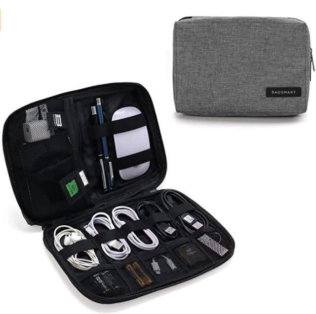 "Find this Bagsmart Electronic Cable Organizer Bag for $16 on <a href=""https://amzn.to/2WHYEOK"" rel=""nofollow noopener"" target=""_blank"" data-ylk=""slk:Amazon"" class=""link rapid-noclick-resp"">Amazon</a>."
