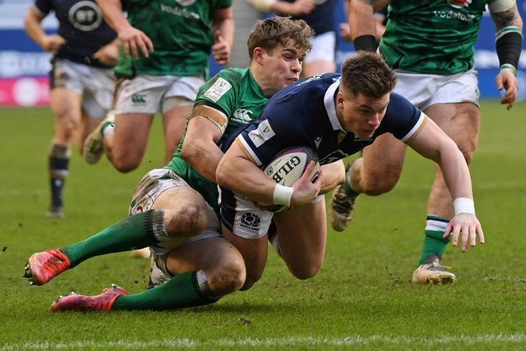 Try-scorer - Scotland replacement Huw Jones strikes against Ireland