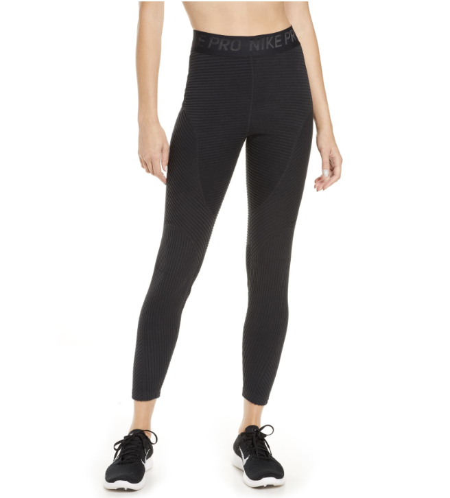 Nike Pro HyperWarm Velour Tights. (Photo: Nordstrom)