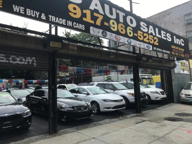 A second-hand car lot in Brooklyn, New York