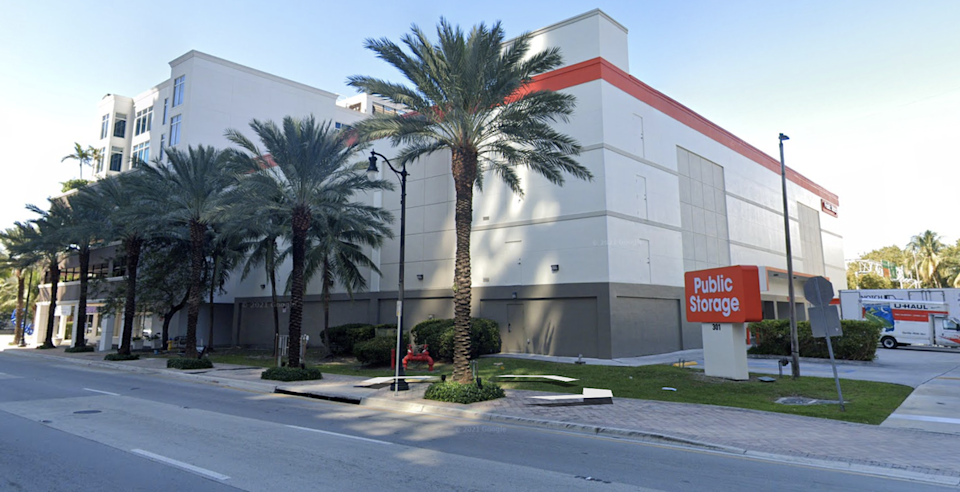 The Public Storage facility in Sunny Isles Beach where the Surfside building department stored paper copies of plans, construction permits and other records for Champlain Towers South in a unit rented under the name of the former building official, Ross Prieto.