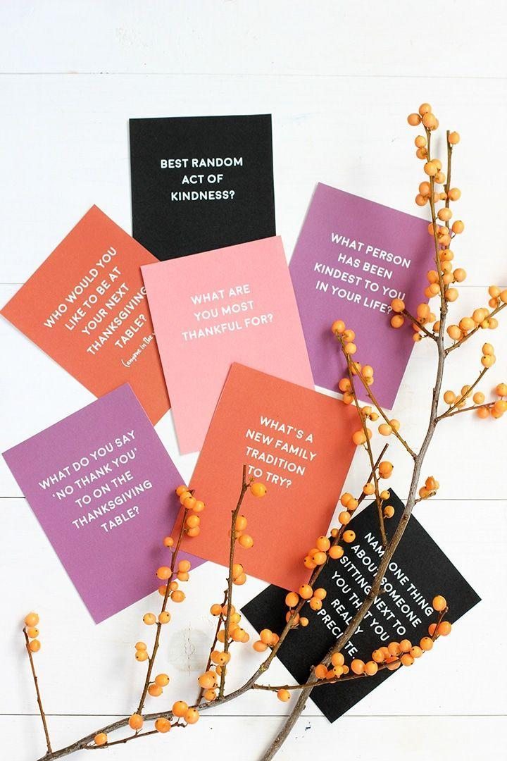 """<p>Every family could use a few conversation starters from time to time. These printables focus on the joy of Thanksgiving, and are the perfect thing to have on hand in case your Zoom party starts to die down. </p><p><em><a href=""""https://www.aliceandlois.com/a-little-bit-of-everything-103/"""" rel=""""nofollow noopener"""" target=""""_blank"""" data-ylk=""""slk:Get the printable list at Alice and Lois »"""" class=""""link rapid-noclick-resp"""">Get the printable list at Alice and Lois »</a></em></p>"""