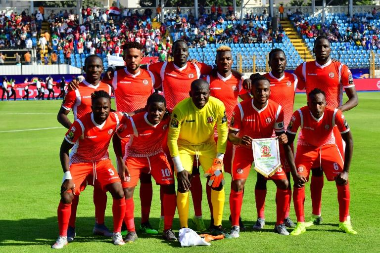 First-time qualifiers Burundi pose before a 2019 Africa Cup of Nations match against Madagascar in Egypt