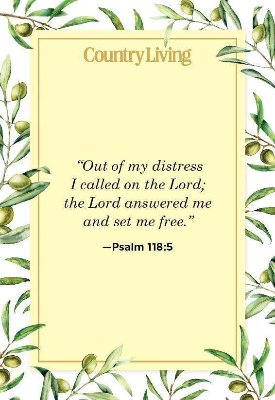 """<p>""""Out of my distress I called on the Lord; the Lord answered me and set me free.""""</p>"""
