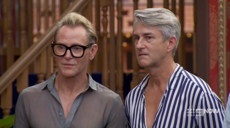 Mitch and Mark on The Block during master bedroom reveals
