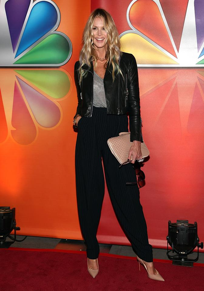 "Elle Macpherson (""Fashion Star"") attends NBC's 2012 Upfront Presentation at 51st Street on May 14, 2012 in New York City."