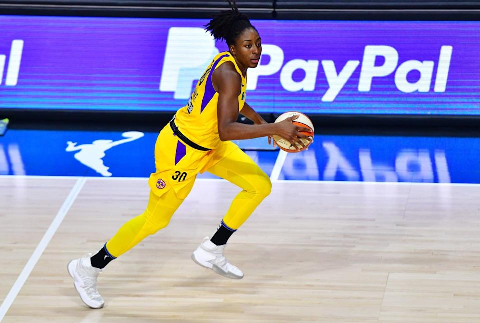 "<p>As president of the WNBAPA, Los Angeles Sparks forward Nneka Ogwumike has become a powerful voice for racial and gender equality, coauthoring a powerful op-ed earlier in the season to explain <a href=""https://www.popsugar.com/fitness/wnba-2020-social-justice-oped-sue-bird-nneka-ogwumike-47645761"" class=""link rapid-noclick-resp"" rel=""nofollow noopener"" target=""_blank"" data-ylk=""slk:how activism is baked into the identity of the WNBA"">how activism is baked into the identity of the WNBA</a>. ""We're not just trying to make a statement today. We're trying to also figure out what actionable items can come out of this,"" Ogwumike told ESPN after Wednesday's games were postponed. ""It speaks to the identity that we have always had as WNBA players: coming out, standing in unity, and really amplifying our voices to foster change.""</p>"