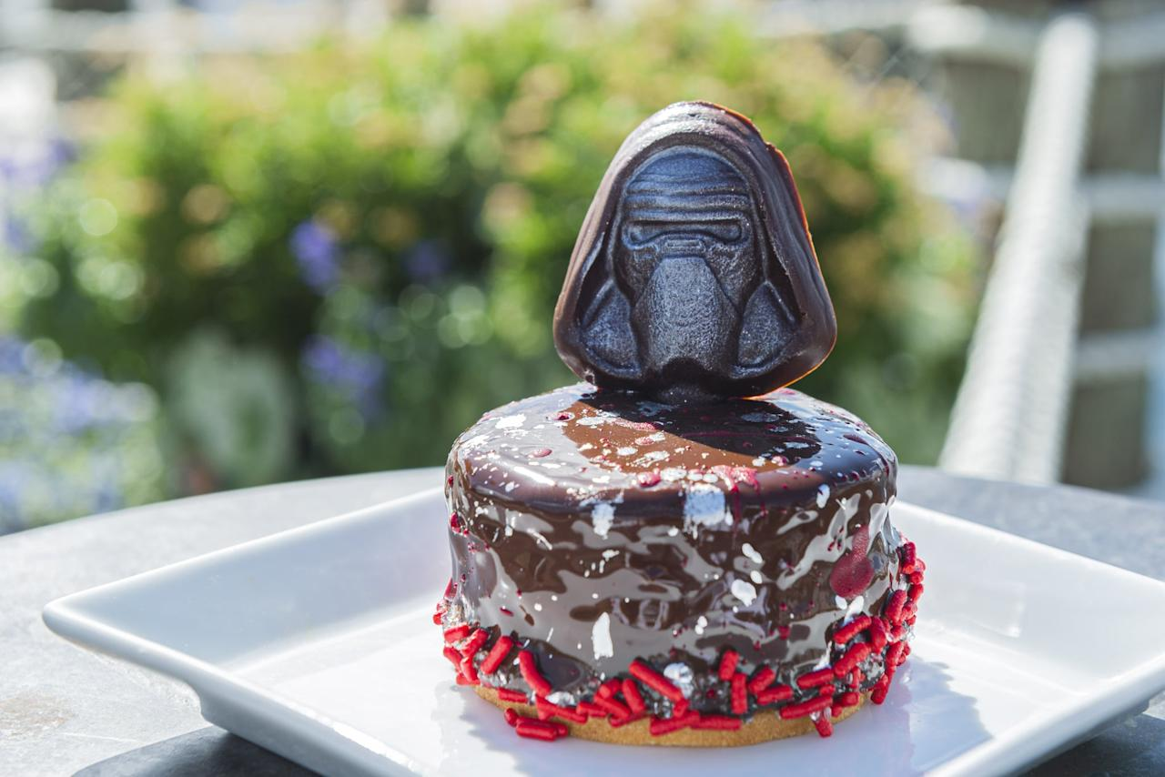 <p>A sugar cookie topped with a mini red velvet cake with cream cheese swirl and chocolate ganache. Available from Aug. 29 to Sept. 29 at the Beach Club Marketplace and the Market at Ale &amp; Compass at Disney's Yacht &amp; Beach Club Resort.</p>