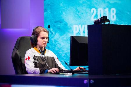 """Sasha """"Scarlett"""" Hostyn of Canada competes during the Intel Extreme Masters PyeongChang esports tournament in Gangneung, South Korea, February 7, 2018. Intel/Handout via REUTERS"""