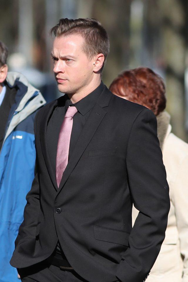 Matthew Scully-Hicks is on trial at Cardiff Crown Court