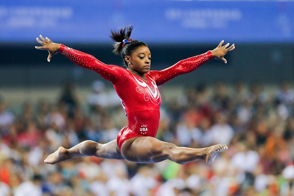 Simone Biles remains the biggest name in USA Gymnastics, and less than 24 hours after the organization hired a new CEO, Biles has a problem with her. (Getty)