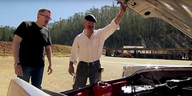 Mythbusters' built a real rotating machine gun to test out