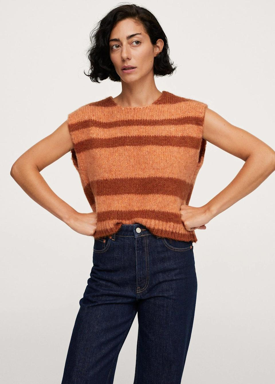 <p>This <span>Striped Knitted Vest</span> ($50) is casual yet polished enough to wear from the office to happy hour. Just swap the jeans for a miniskirt or leather pants.</p>