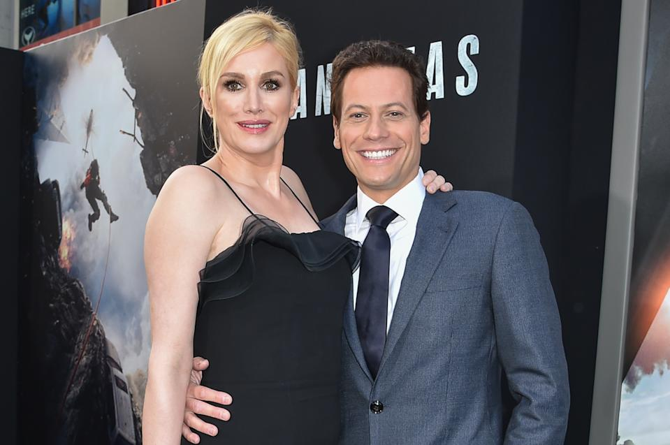 "Alice Evans, left, and Ioan Gruffud arrive at the World Premiere Of ""San Andreas"" held at the TCL Chinese Theater on Tuesday, May 26, 2015, in Los Angeles. (Photo by Rob Latour/Invision/AP)"