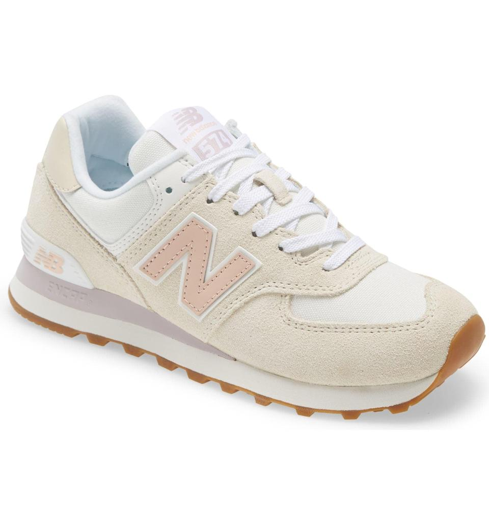 <p>This <span>New Balance 574 Sneaker</span> ($80) gets a modern twist, but there's something so nostalgic about it. The different textures and sporty details make it stand out.</p>