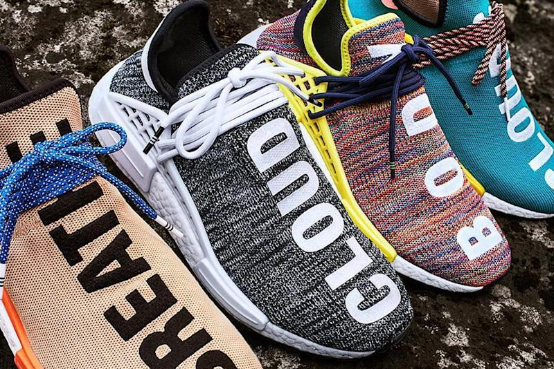 """Although you may not be able to get your hands on Pharrell Williams'  ComplexCon-exclusive Adidas Human Race NMD """"N.E.R.D."""" sneakers, there's  still plenty of ..."""