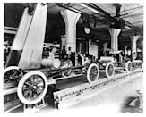 "<p>The Model T from Henry Ford created a more affordable vehicle, opening up a new style of transportation to more people. But the process of making the Model T, <a href=""https://corporate.ford.com/articles/history/moving-assembly-line.html"" rel=""nofollow noopener"" target=""_blank"" data-ylk=""slk:with the first moving assembly line"" class=""link rapid-noclick-resp"">with the first moving assembly line</a>, also revolutionized manufacturing processes and reduced prices for the self-starting Model T.</p>"