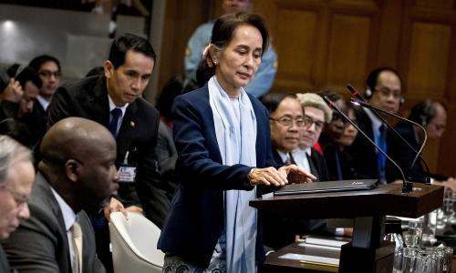 Aung San Suu Kyi tells court: Myanmar genocide claims 'factually misleading'