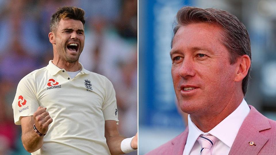 Glenn McGrath has hailed James Anderson for his record-breaking feat. Pic: Getty