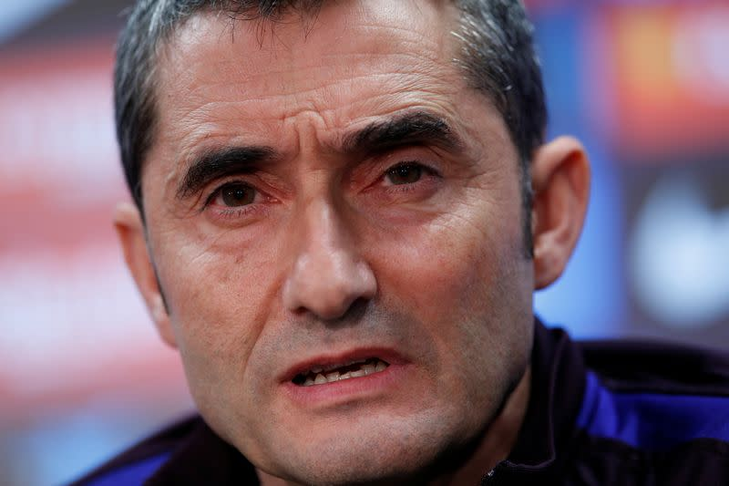 Barca coach Valverde tells fans to protest freely in 'Clasico' but show respect