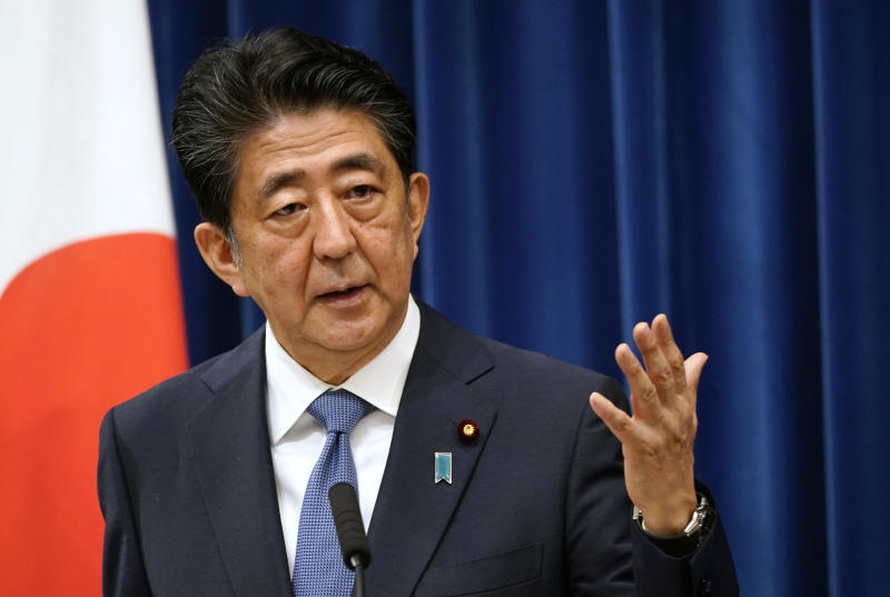 Japanese Prime Minister Shinzo Abe announced his resignation due to health concerns during a press conference at the prime minister official residence on August 28, 2020 in Tokyo, Japan.