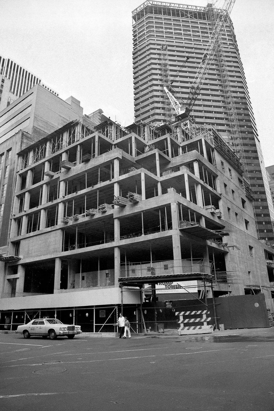 <p>The soon-to-be 68-story luxury Trump Tower condominium is under construction on Manhattan's East Side.</p>