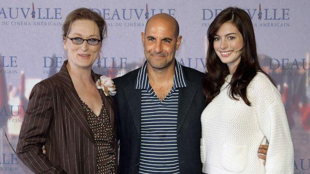 PHOTO: In this Sept. 9, 2006 file photo actors Meryl Streep, Stanley Tucci and Anne Hathaway pose during a photocall of their film 'The Devil Wears Prada,'  presented at the 32nd Deauville American film festival. (Francois Guillot/AFP via Getty Images, FILE)
