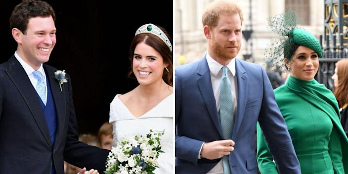 princess eugenie jack brooksbank frogmore cottage prince harry meghan markle