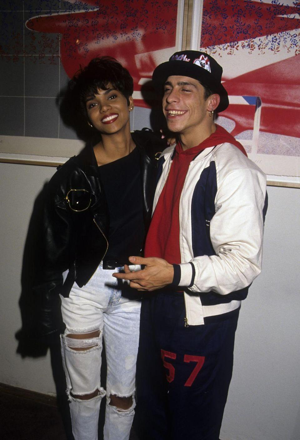 <p>Halle Berry was a long way from her Oscar-winning night in 2011 circa this late '80s red carpet. But we'd say posing with Danny Wood from New Kids on the Block was a pretty solid start for her.</p>