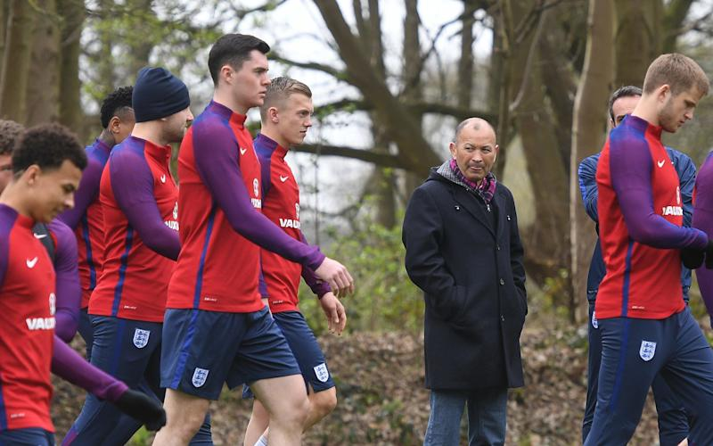 Jones led England's rugby team to a record-equaling win of victories but is keen to share knowledge across sports - 2017 The FA