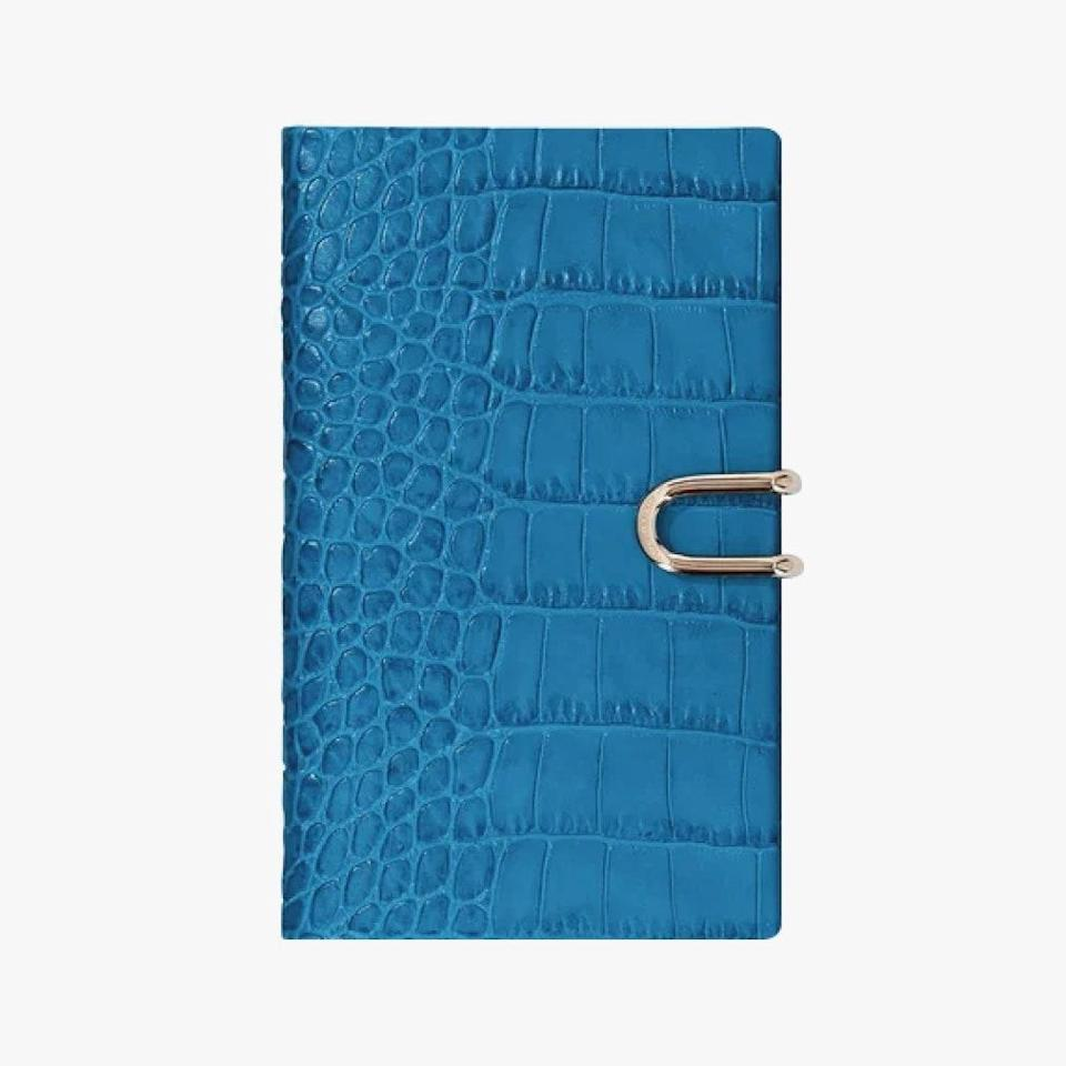 "$155, SMYTHSON. <a href=""https://www.smythson.com/us/azure-2021-mara-panama-agenda-with-pocket-1027268.html"" rel=""nofollow noopener"" target=""_blank"" data-ylk=""slk:Get it now!"" class=""link rapid-noclick-resp"">Get it now!</a>"