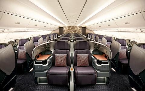 The business class offering on a Singapore Airlines A380 - Credit: Singapore Airlines